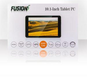 Fusion5 104 Android Tablet PC 10.1 inch, MediaTek MT8163 64-bit Quad Core, GPS, RAM 1GB, 32GB Storage, Google Android 5.1 Lollipop, Bluetooth, FM, 1280x800 IPS Screen, 5000mAh, 2MP Front and Rear Camera