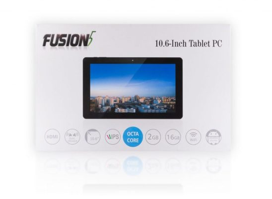 Fusion5 108 Octa Core Android Tablet PC 10.6 inch, Google Android 5.1 Lollipop, 2GB RAM, 16GB Storage, Cortex-A7 Octa Core 1.8GHz, Front 2MP and Rear 5MP Camera with AutoFocus