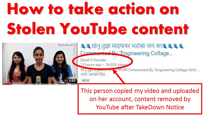 someone copied and uploaded my youtube video removed now