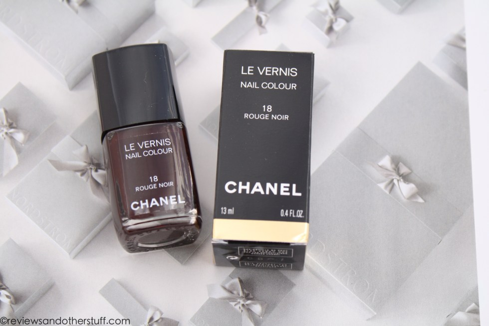 chanel nail polish rouge noir