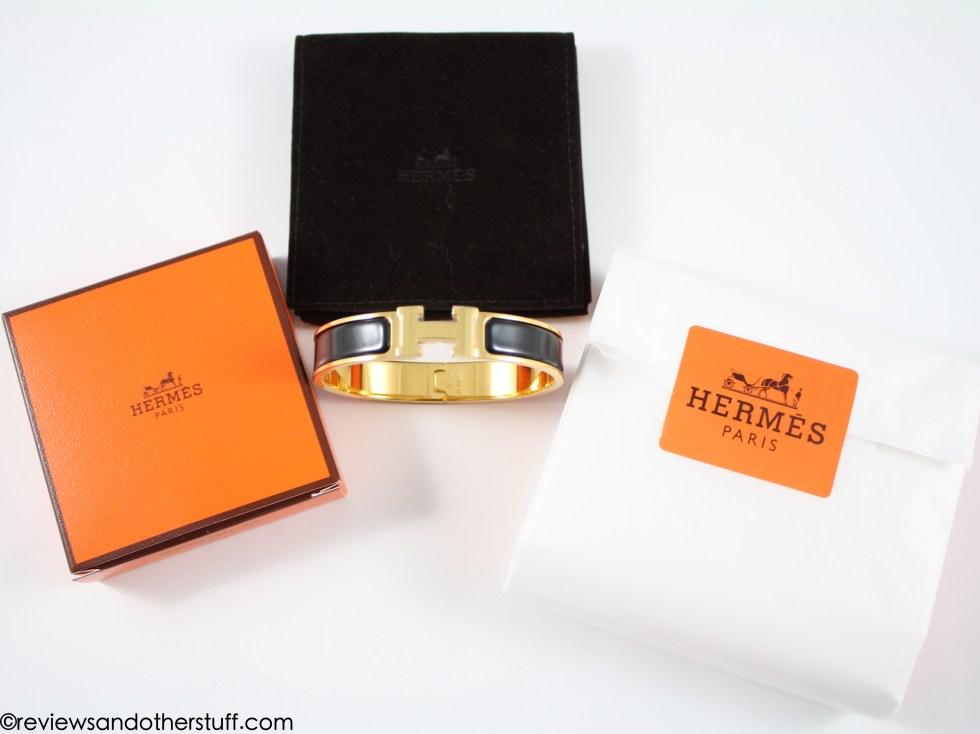 hermes clic h black bracelet narrow