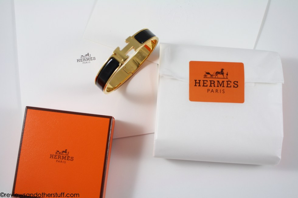 hermes bracelet black gold gm review