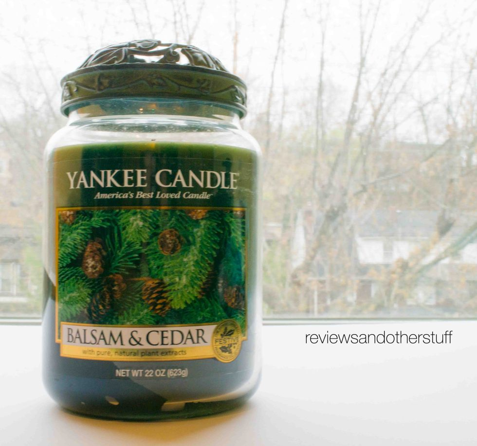 yankee candle review balsam cedar