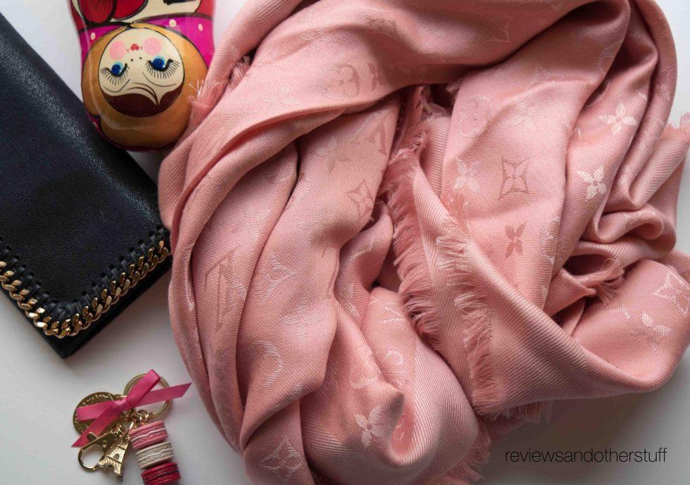 louis vuitton scarf baby rose