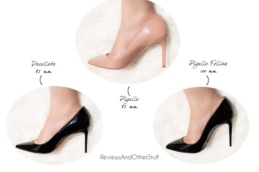 christian louboutin heels pigalle pigalle follies decollete comparison review