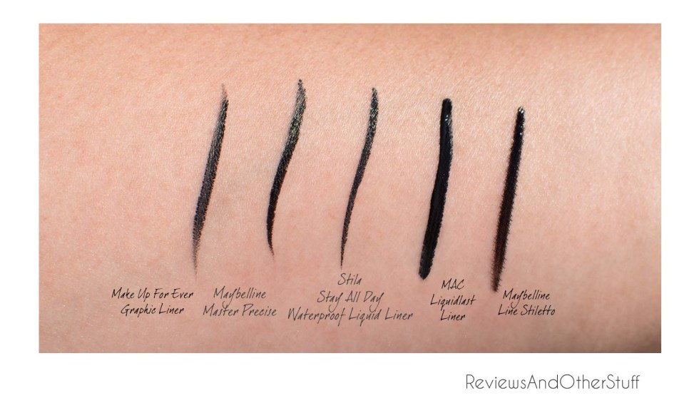 best liquid eyeliner swatches