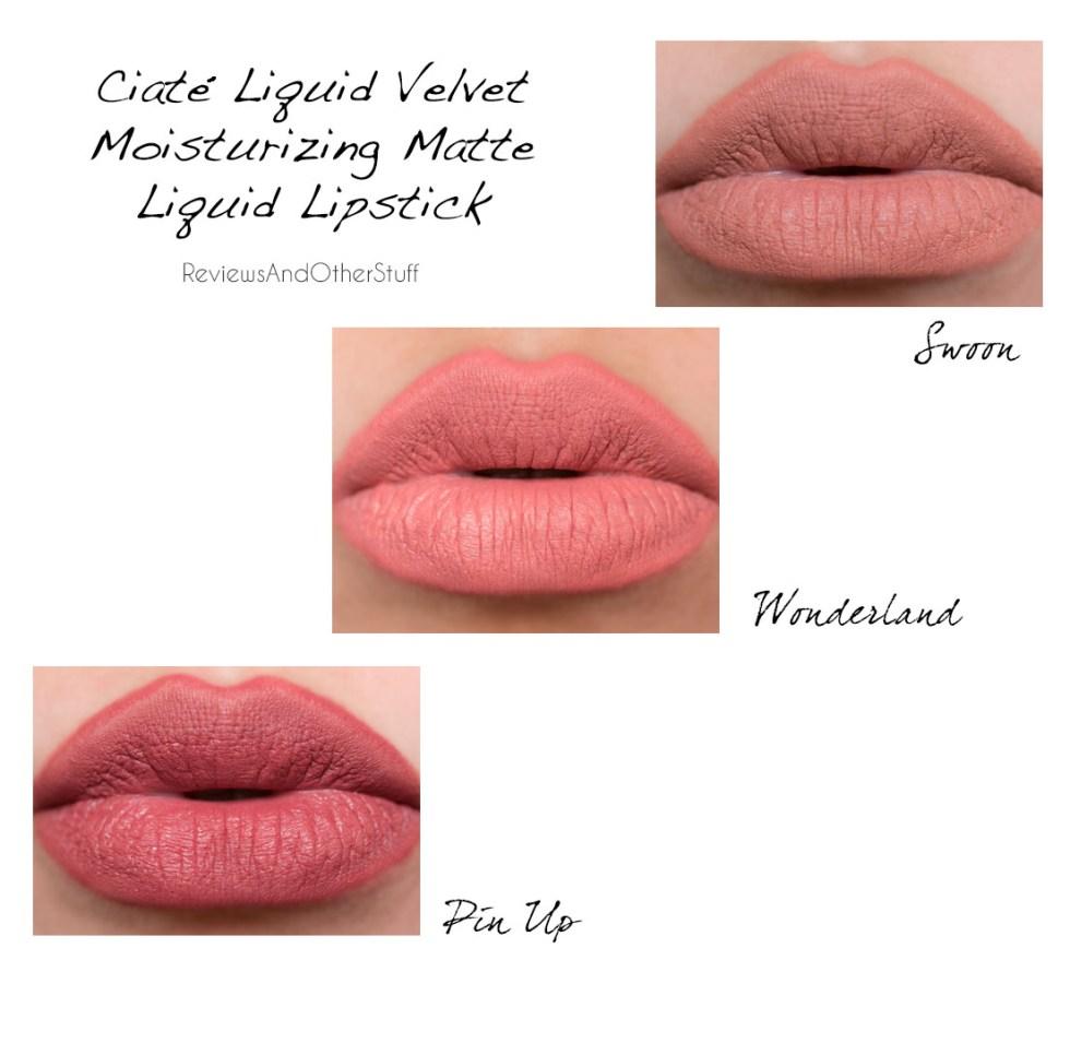 ciate london liquid velvet lipstick lips swatches