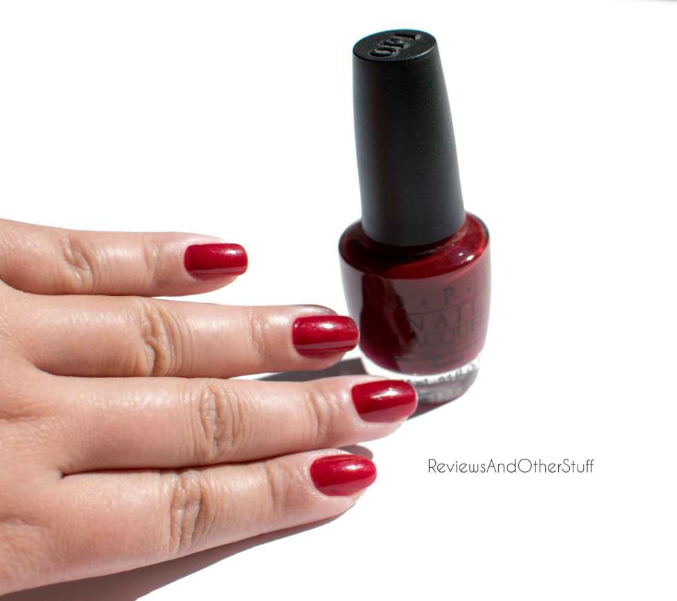 opi st petersburgundy nail polish
