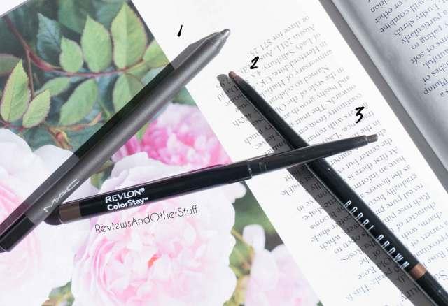 revlon colorstay eyeliner bobbi brown gel liner mac pro longwear eye liner