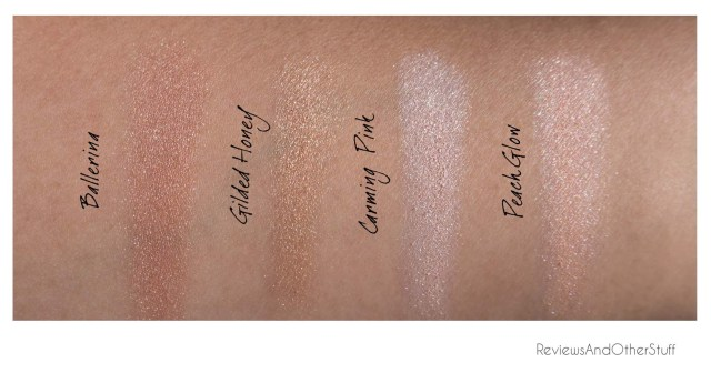 laura geller baked gelato swirl highlighters swatches