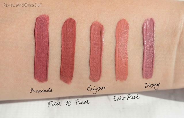 colourpop satin lip swatches photos review