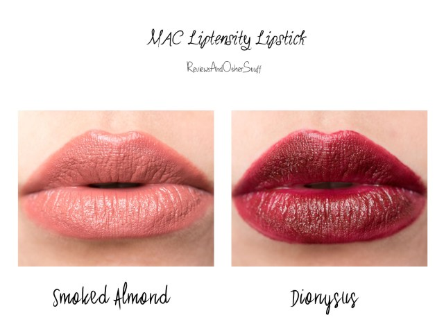 Mac lipstensity lip swatches review
