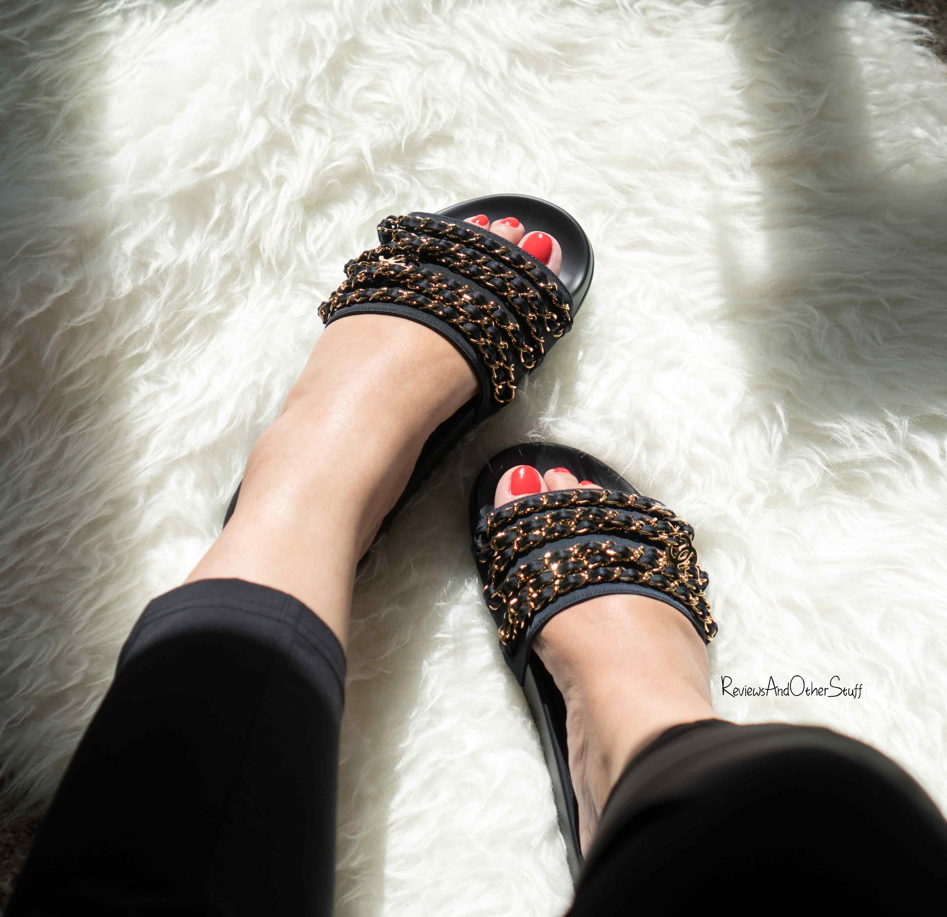 chanel slides. and i have a lot of plans for this pair chanel slides. mean course, who wouldn\u0027t want to wear the shoes that almost got away? slides u