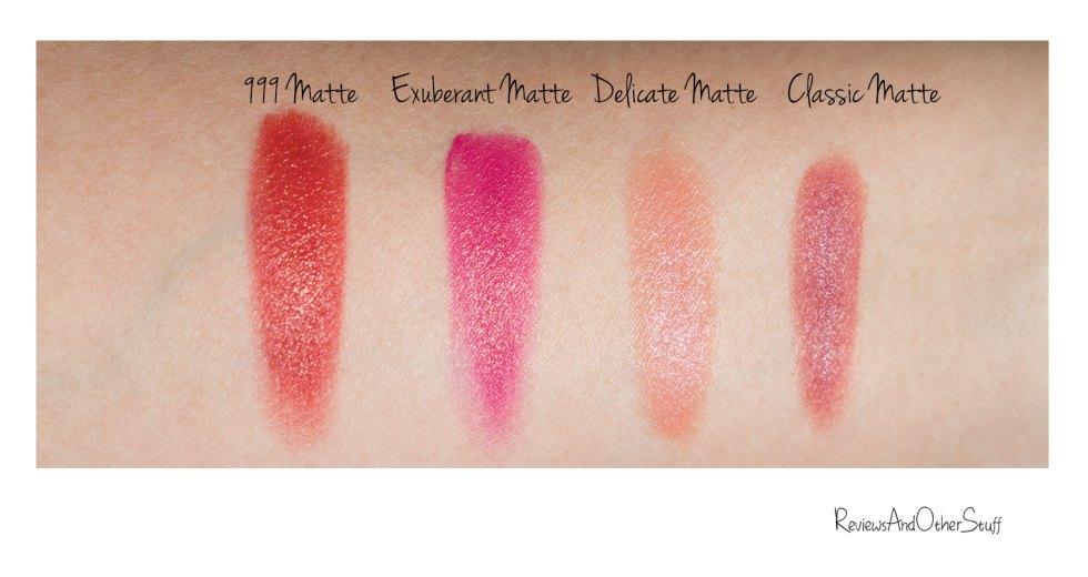 dior rouge dior matte finish lipsticks lip swatches