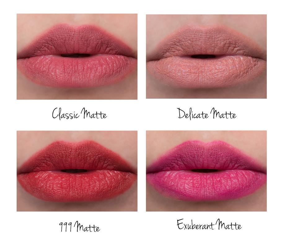 Rouge Dior Matte Lipsticks swatches
