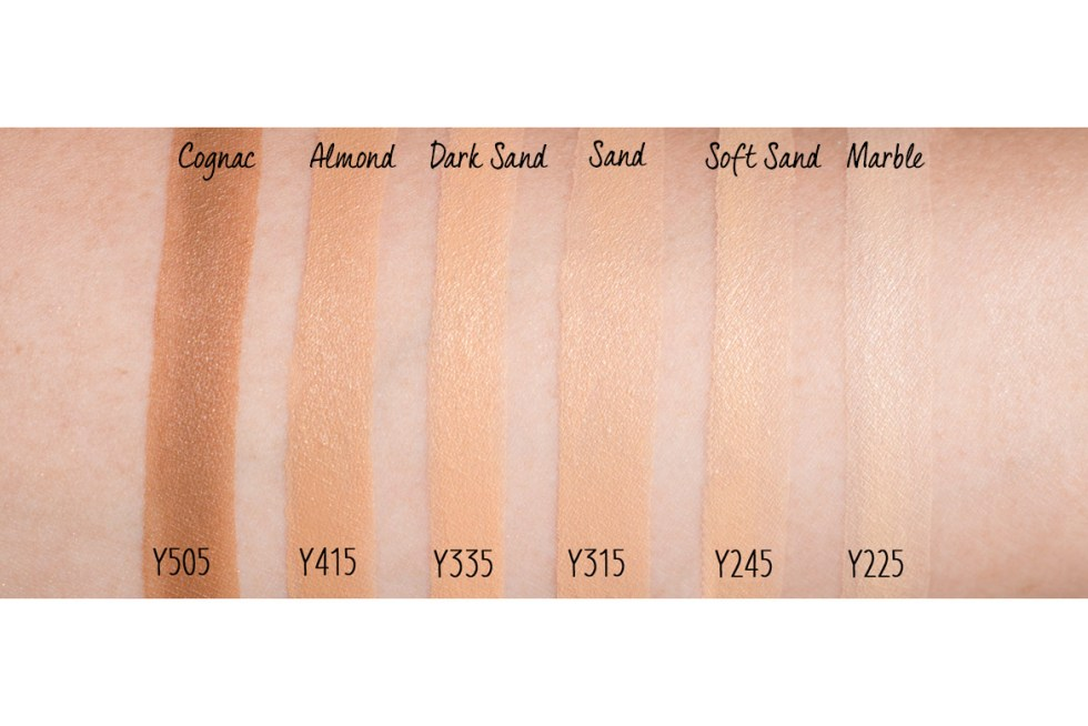 mufe ultra hd invisible cover foundation swatches