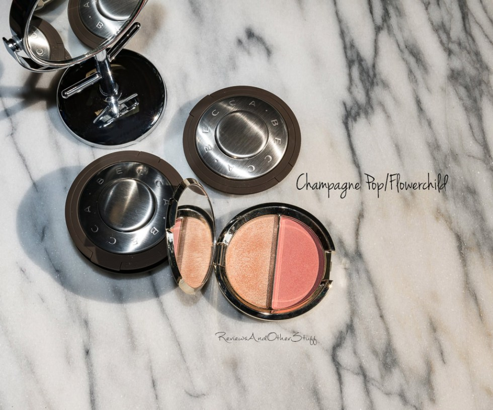 Becca Shimmering Skin Perfector Pressed Highlighter champagne pop swatches