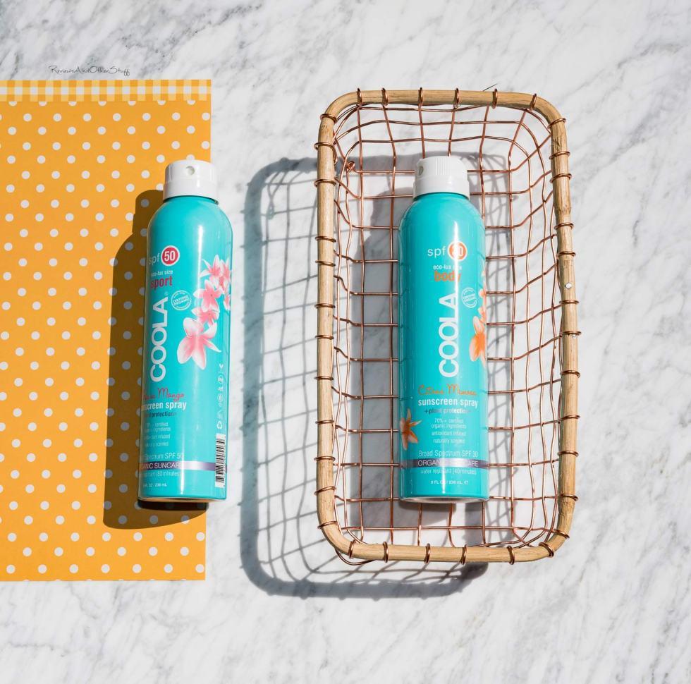 Coola Sport Continuous Spray Broad Spectrum Spf 50 in Guava Mango
