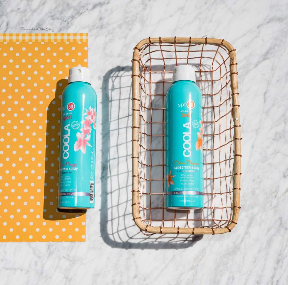 Coola Sport Continuous Spray Broad Spectrum Spf 50 in Guava Mango