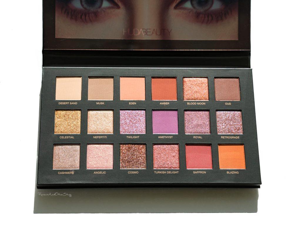 Huda Beauty Desert Dusk Eyeshadow review