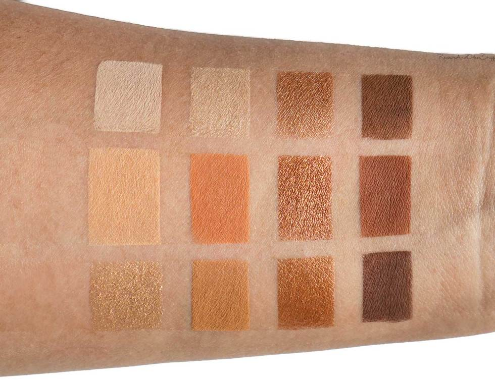tarte toasted palette swatch