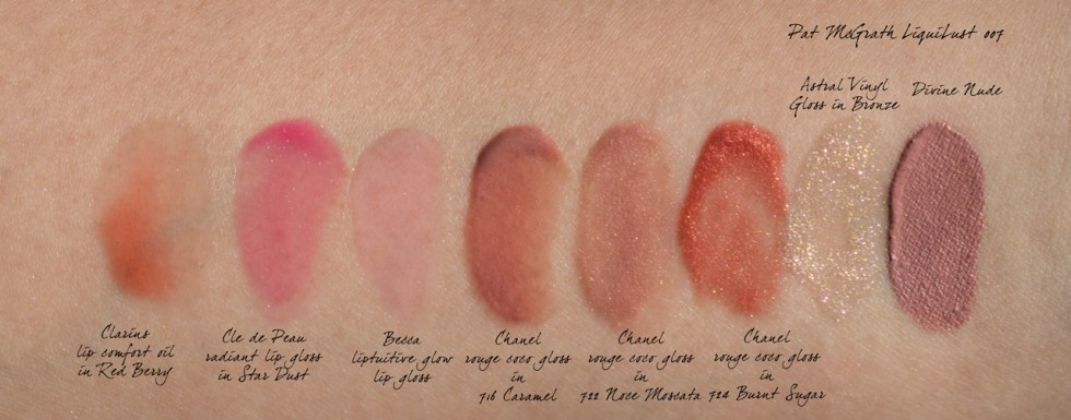 chanel rouge coco gloss swatches