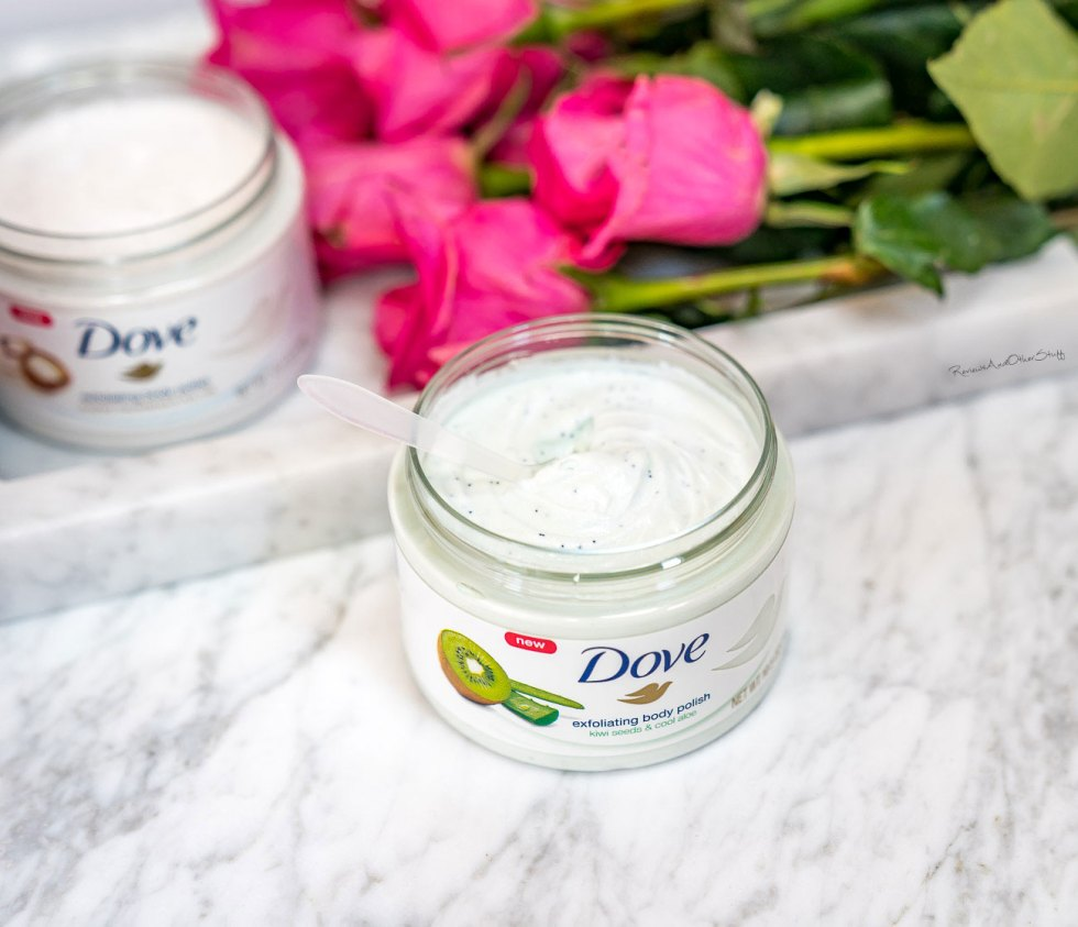 dove kiwi seeds and cool aloe body scrub review