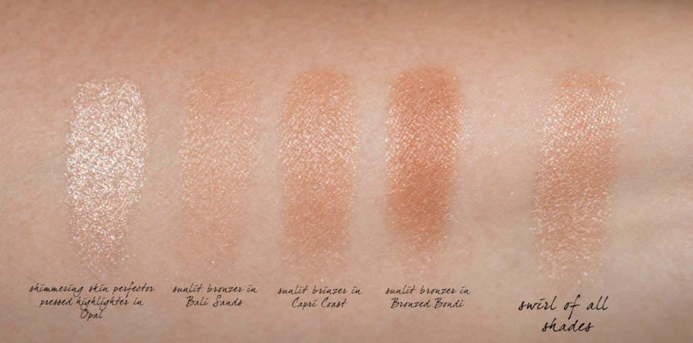 becca sunrise waves bronzer swatches