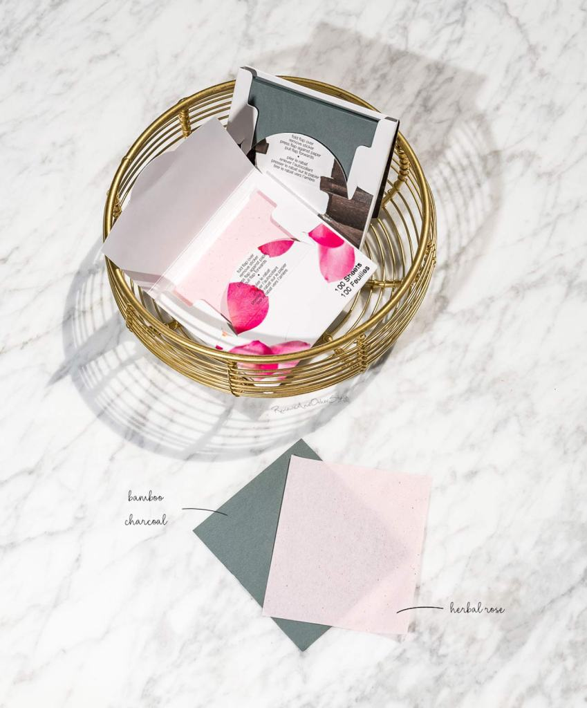 Sephora Collection Blotting Papers review herbal rose and bamboo charcoal