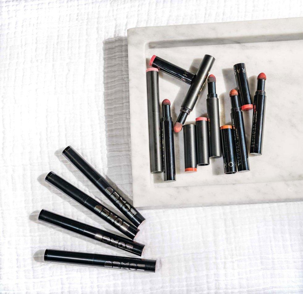 Sephora Collection Lip Powder, buxom pillow pout, lorac hi-res lip & cheek review