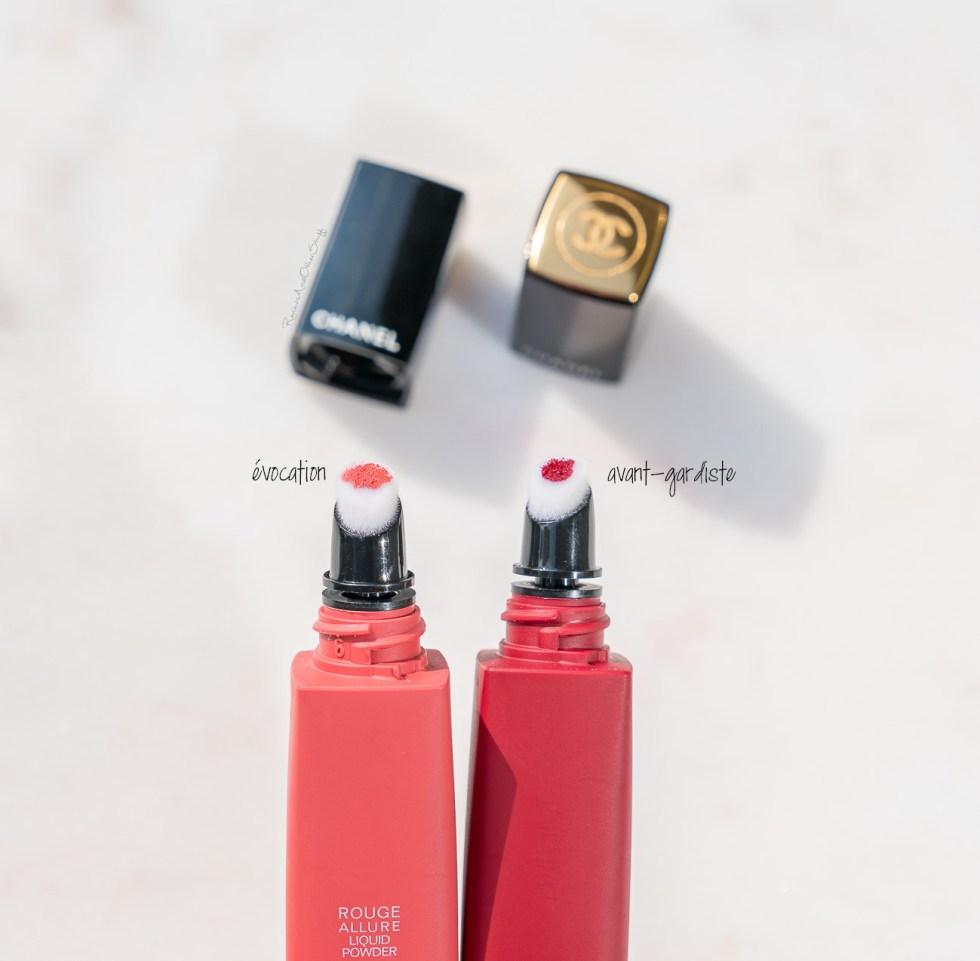 chanel rouge allure liquid powder in évocation and avant-gardiste