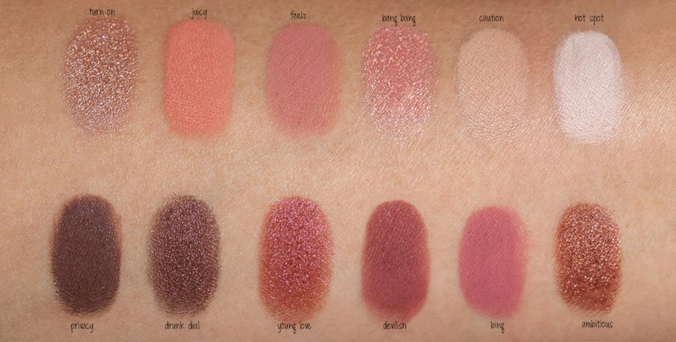 Urban Decay Naked Cherry Eyeshadow Palette swatch