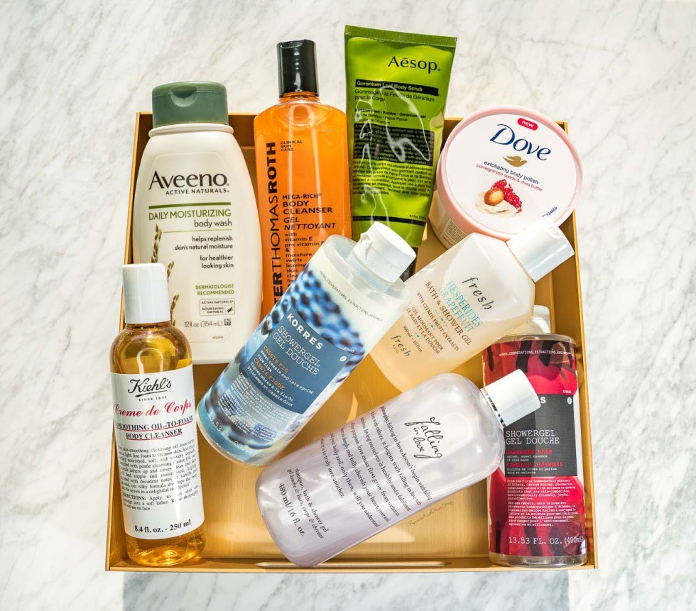 favorite body wash and shower gels