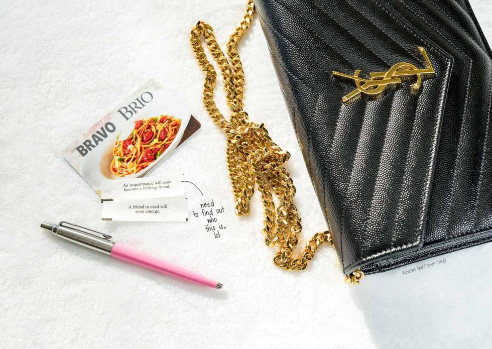 what can fit inside ysl wallet on chain bag