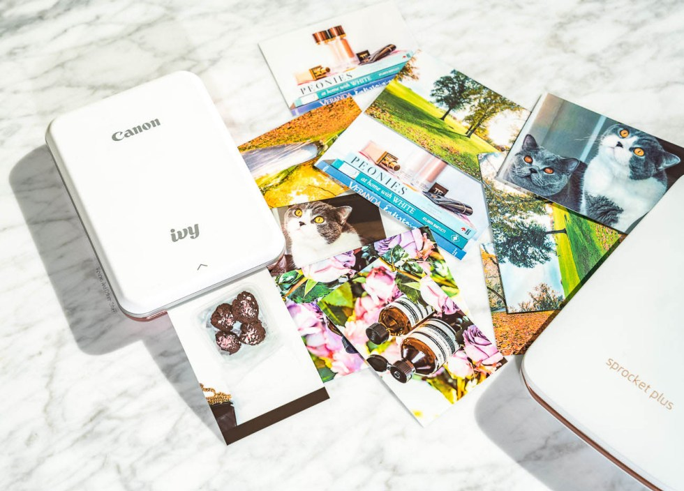 best portable photo printers canon ivy and hp sprocket