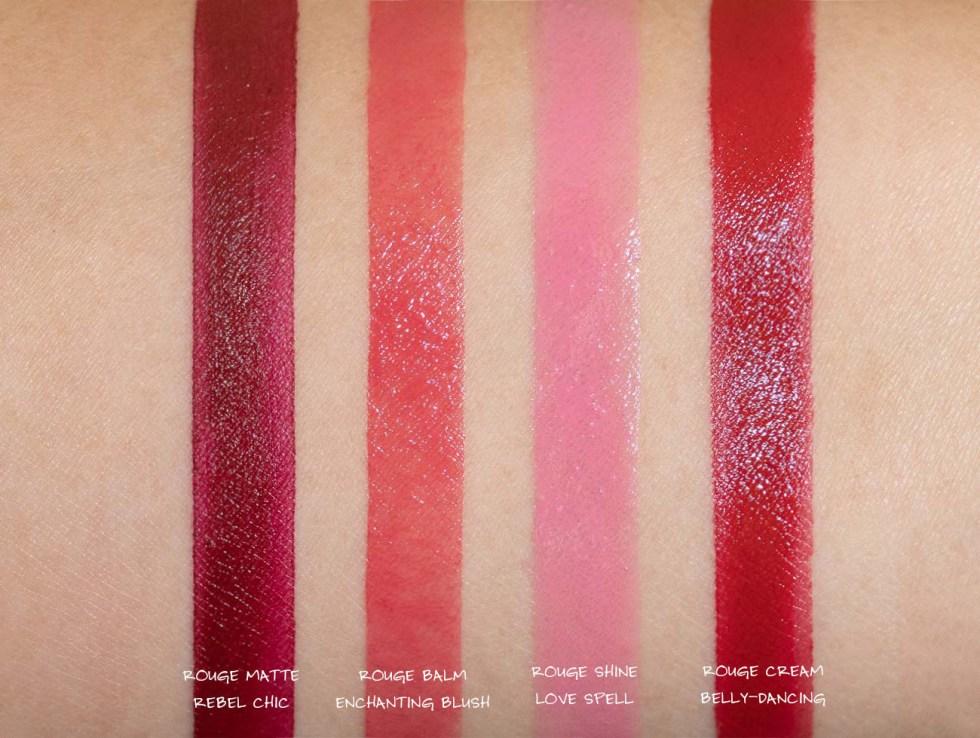sephora rouge creme belly dancing, sephora rouge baume enchanting blush swatch