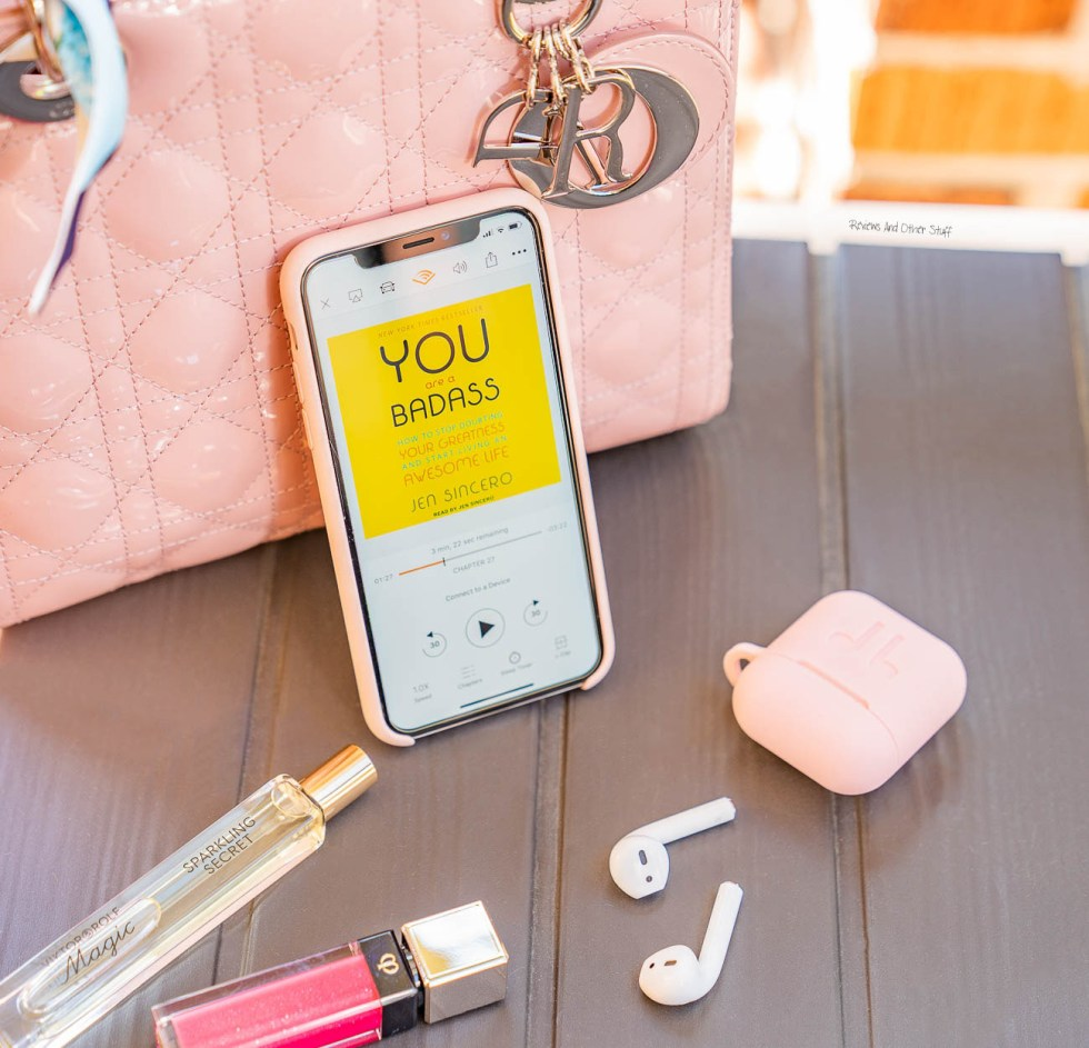 you are a badass book by jen sincero, pink lady dior bag, pink iphone x