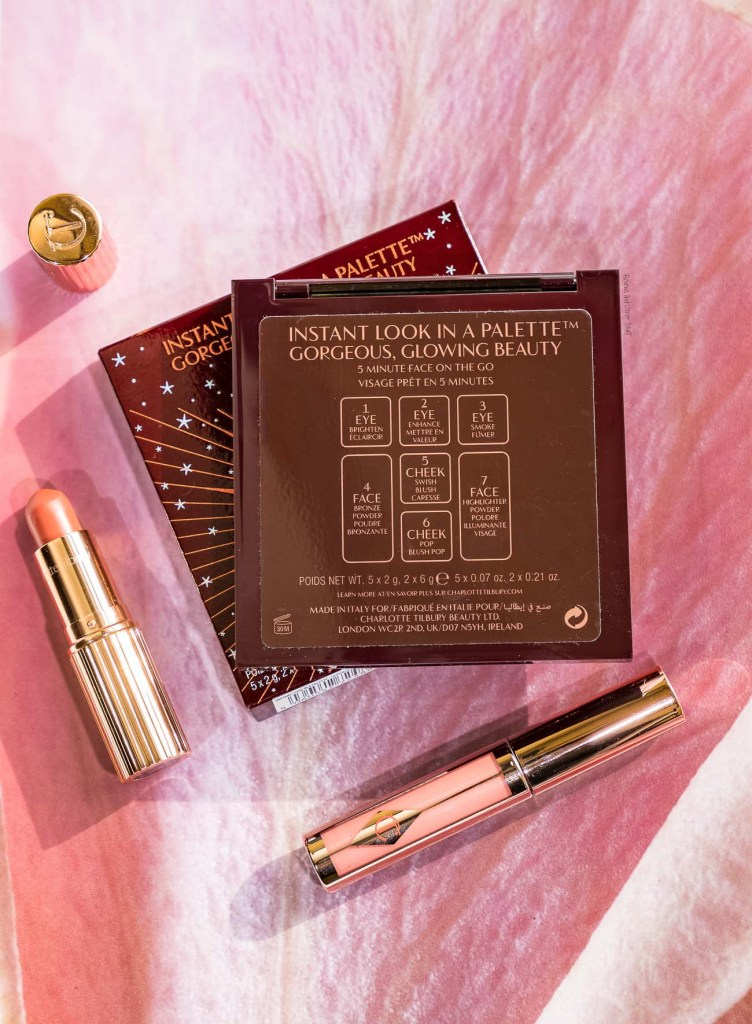 Charlotte Tilbury Instant Look In A Palette Gorgeous Glowing Beauty complete face