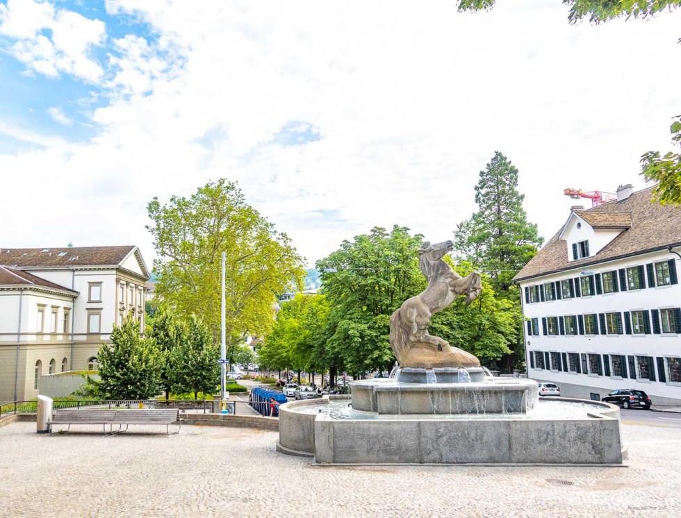 zurich switzerland horse statue