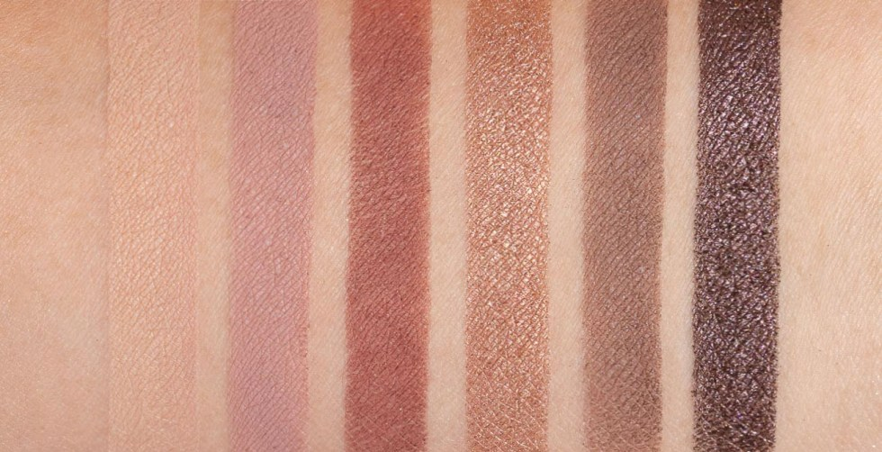 ILIA The Necessary Eyeshadow Palette cool nude swatches review