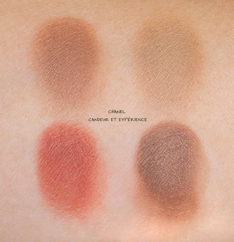chanel candeur et experience eyeshadow swatch