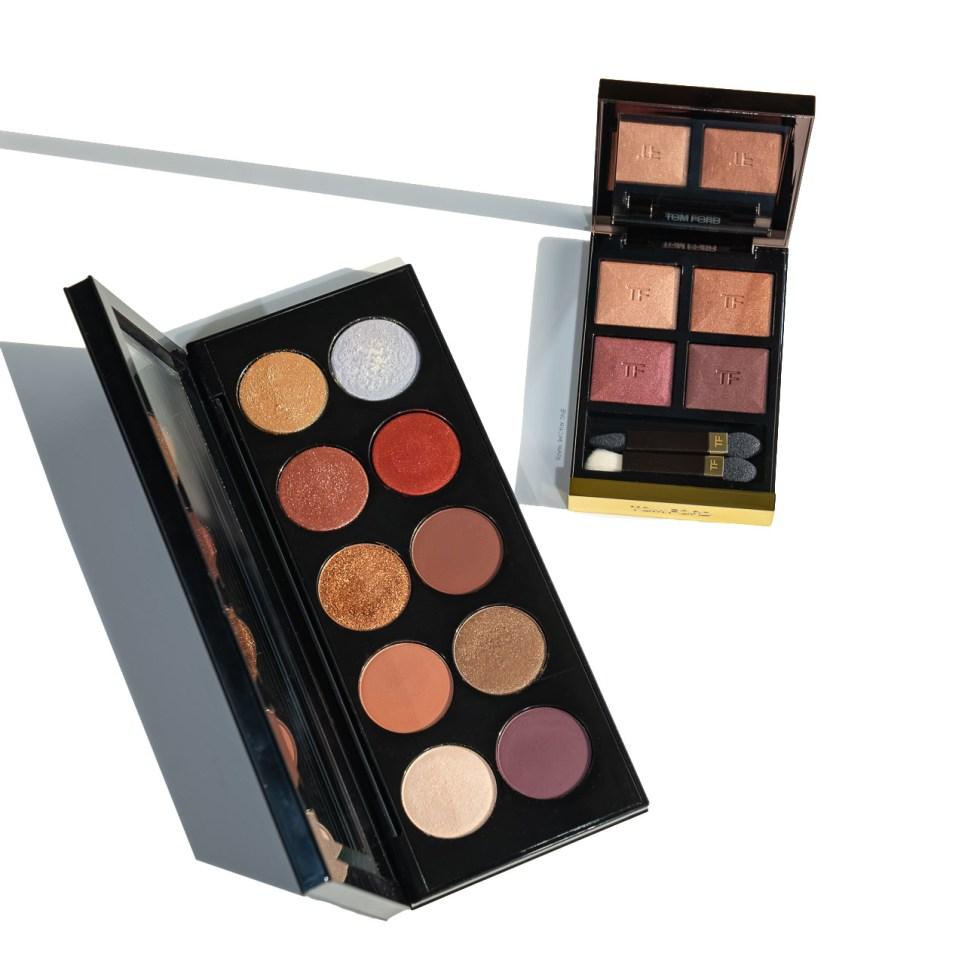 Tom Ford Eye Color Quad Eyeshadow Palette in honeymoon, Pat McGrath Mothership V Eyeshadow Palette in Bronze Seduction
