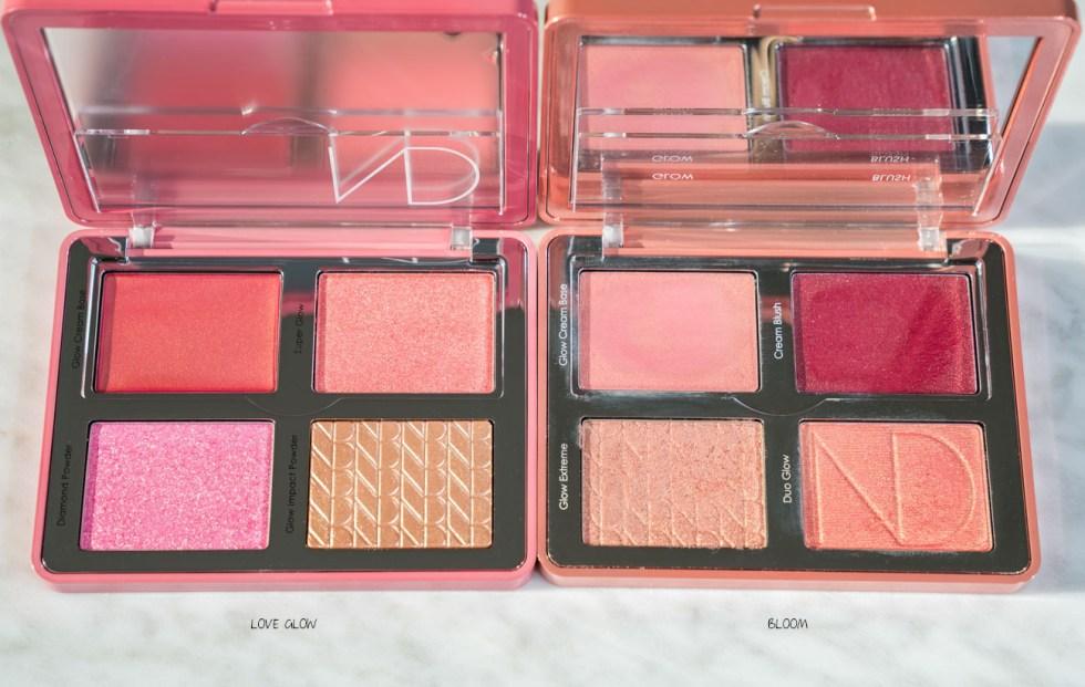 natasha denona love glow palette compare to bloom blush palette