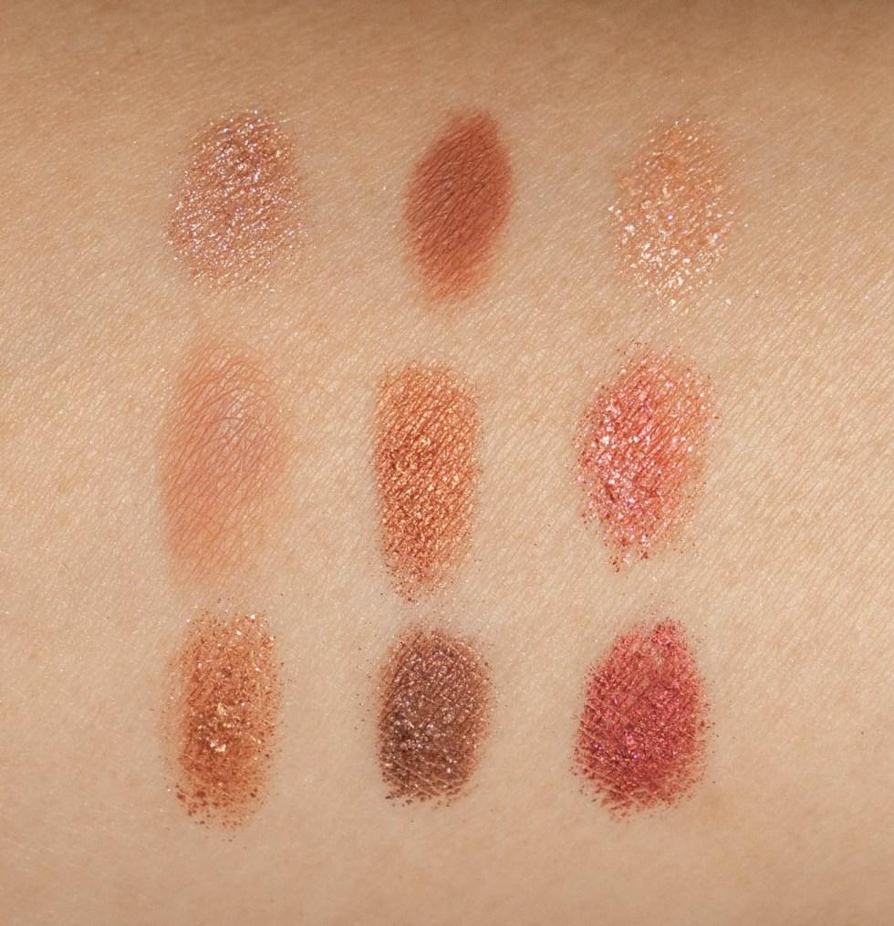 Nars Summer Solstice Eyeshadow Palette swatch