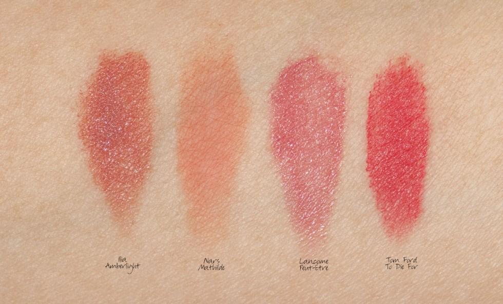 ilia coloblock lipstick amberlight Swatch
