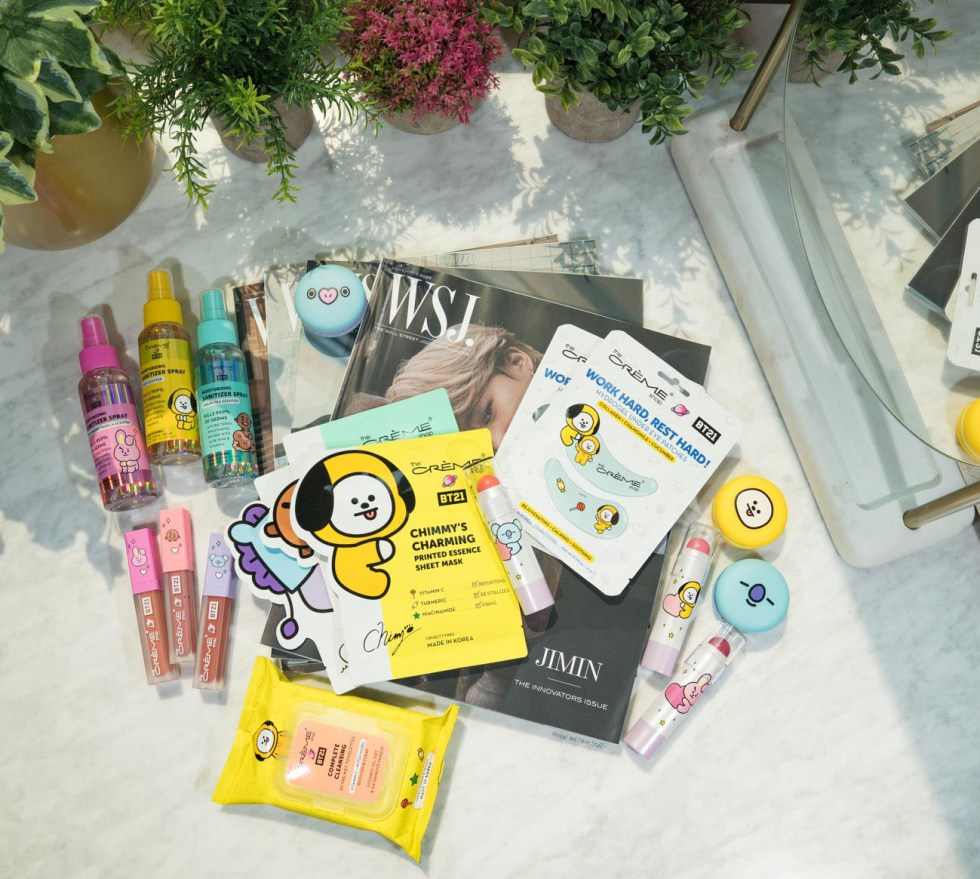 the creme shop bt21 makeup and skincare review