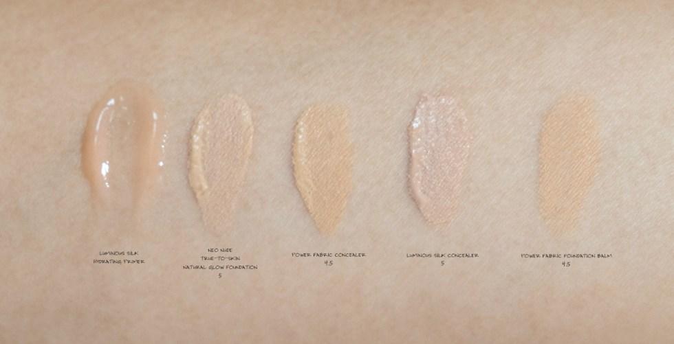 Giorgio armani beauty foundation concealer primer swatches