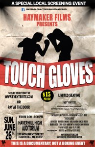 touch gloves poster