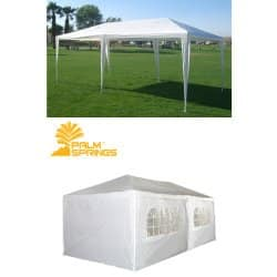 palm springs 10 x 20 white party tent gazebo canopy with sidewalls - 10x20 Pop Up Canopy