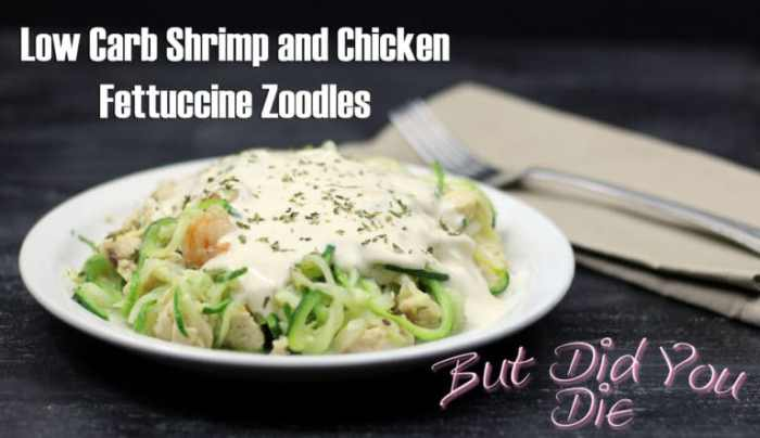 Low carb chicken and shrimp alfredo3